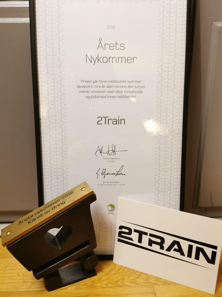 2Train Newcomer of the year award 2016